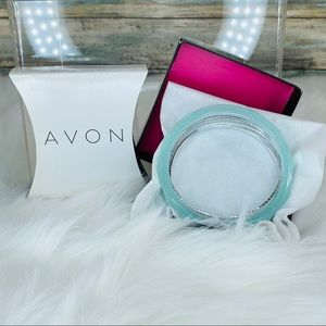 FACETED BANGLE SET - Green AVON